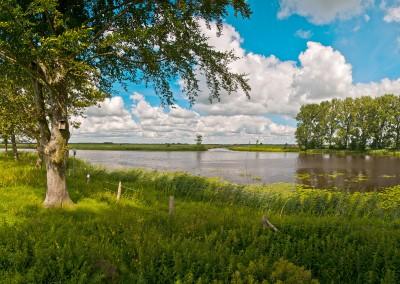 Sorge Mündung 24799 Friedrichsholm  Hier mündet die Sorge 395 Meter vor der Hohner Fähre in die Eider.