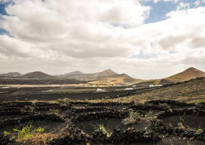 Das Weinanbaugebiet zwischen Masdache und La Geria